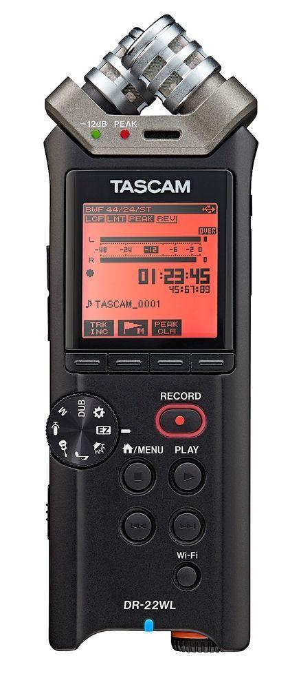 Tascam DR-22WL tragbarer Digitalrecorder mit WLAN Funktion