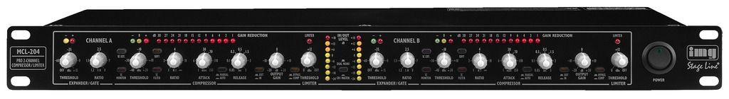 IMG Stage Line MCL-204 2-Kanal-Kompressor-Limiter mit Noise-Gate