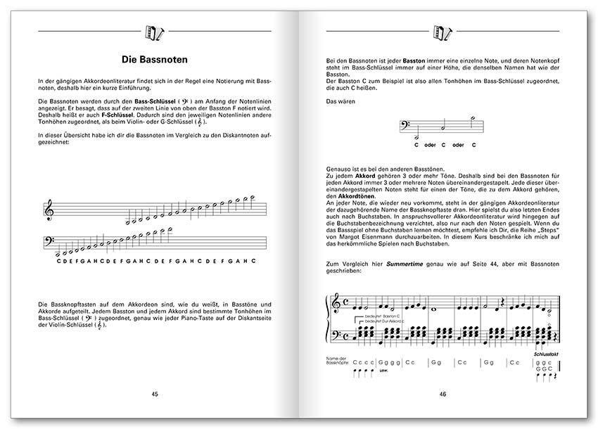 Noten Akkordeon express Kurs incl. CD für Akkordeon Voggenreiter