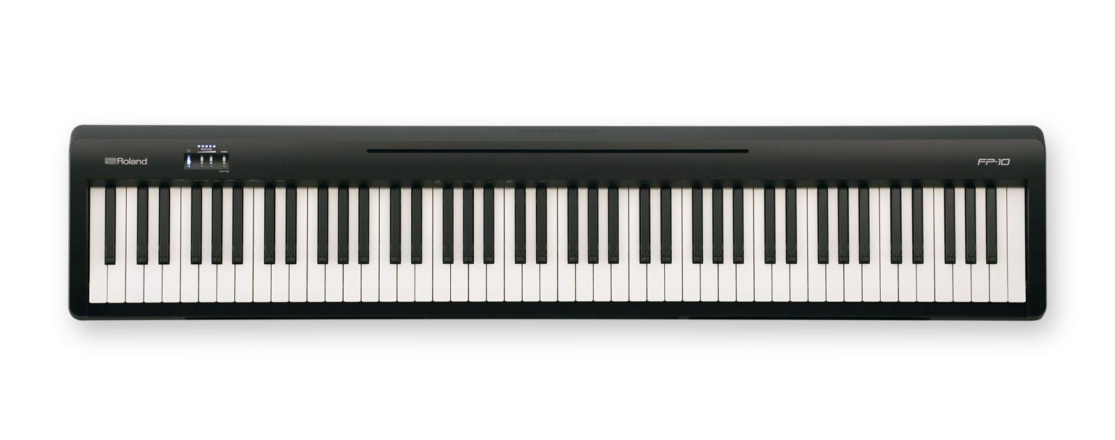 Roland FP-10-BK Stagepiano schwarz Digitalpiano mit Lautsprechern