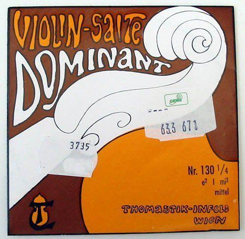 Thomastik Dominant Violine 1/4-E-Saite 130 Aluminium umsponnen