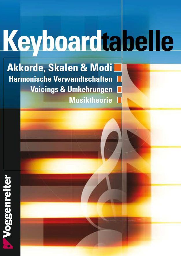 Noten Keyboardtabelle von Bessler / Opgenoorth Voggenreiter 250