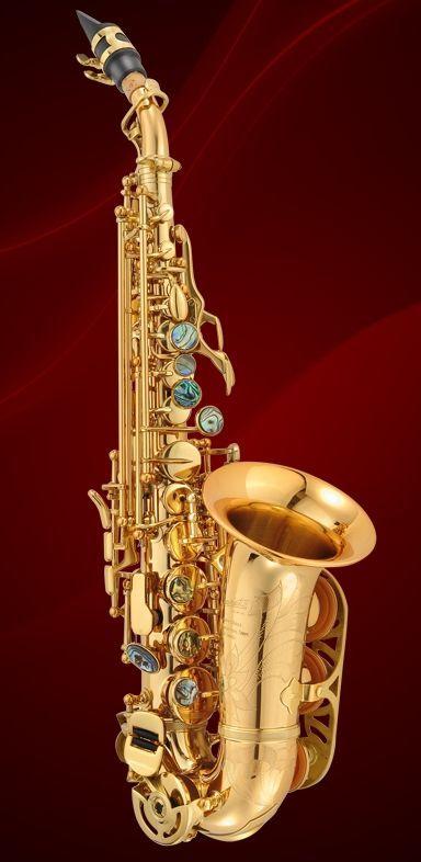 P.Mauriat System-PMSS-2400 Sopransaxophon gebogene Bauform, Goldlack, Etui + Zub