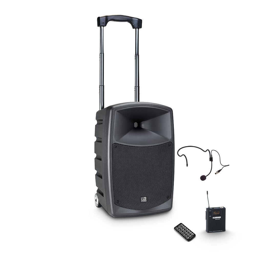 LD Systems Roadbuddy 10 HS Akkubetriebene Bluetooth-Lautsprecherbox mit Headset