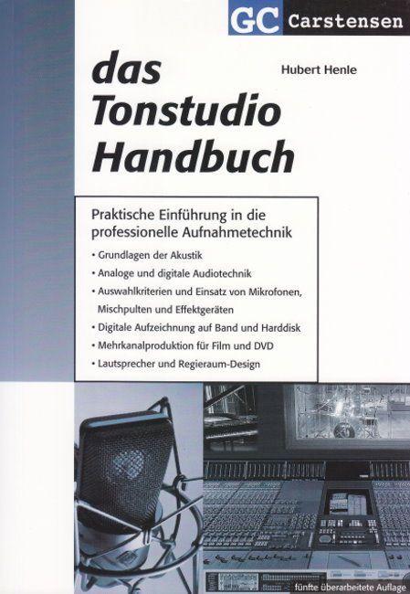 Buch Das Tonstudio Handbuch Hubert Henle Carstensen Verlag