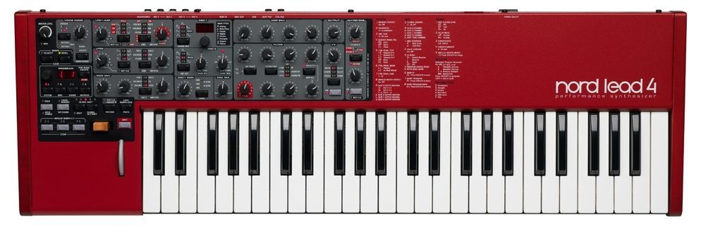 Clavia Nord Lead 4 Performance Synthesizer mit 49 Tasten, Nachfolger des Lead II