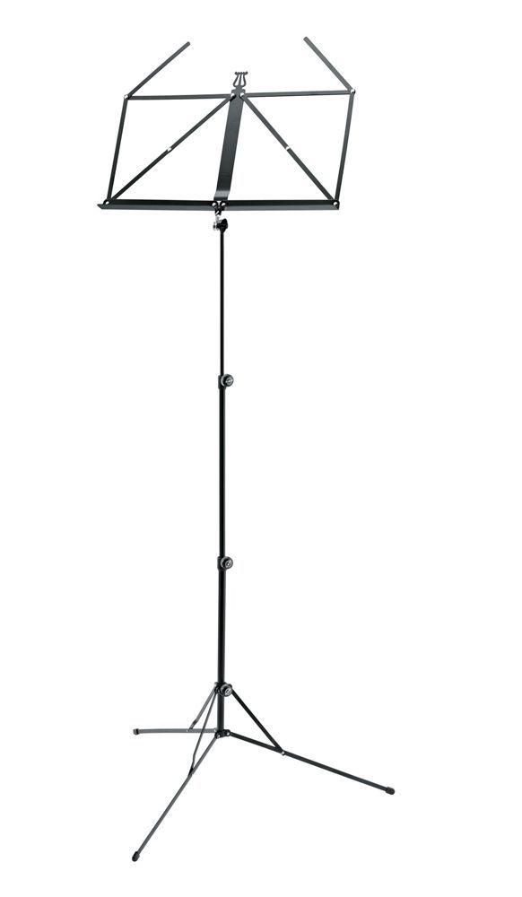 K&M 101 Notenpult neues Modell Notenständer 10100 schwarz, Höhe 650-1225mm