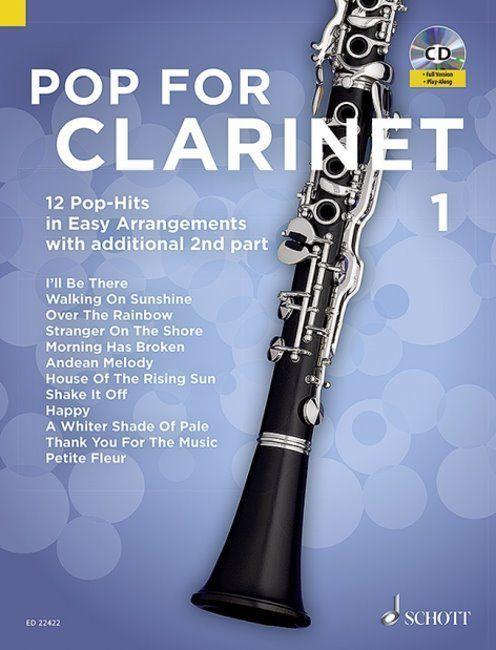 Noten Pop For Clarinet interessante Titel incl. CD Ed Schott ED 22422