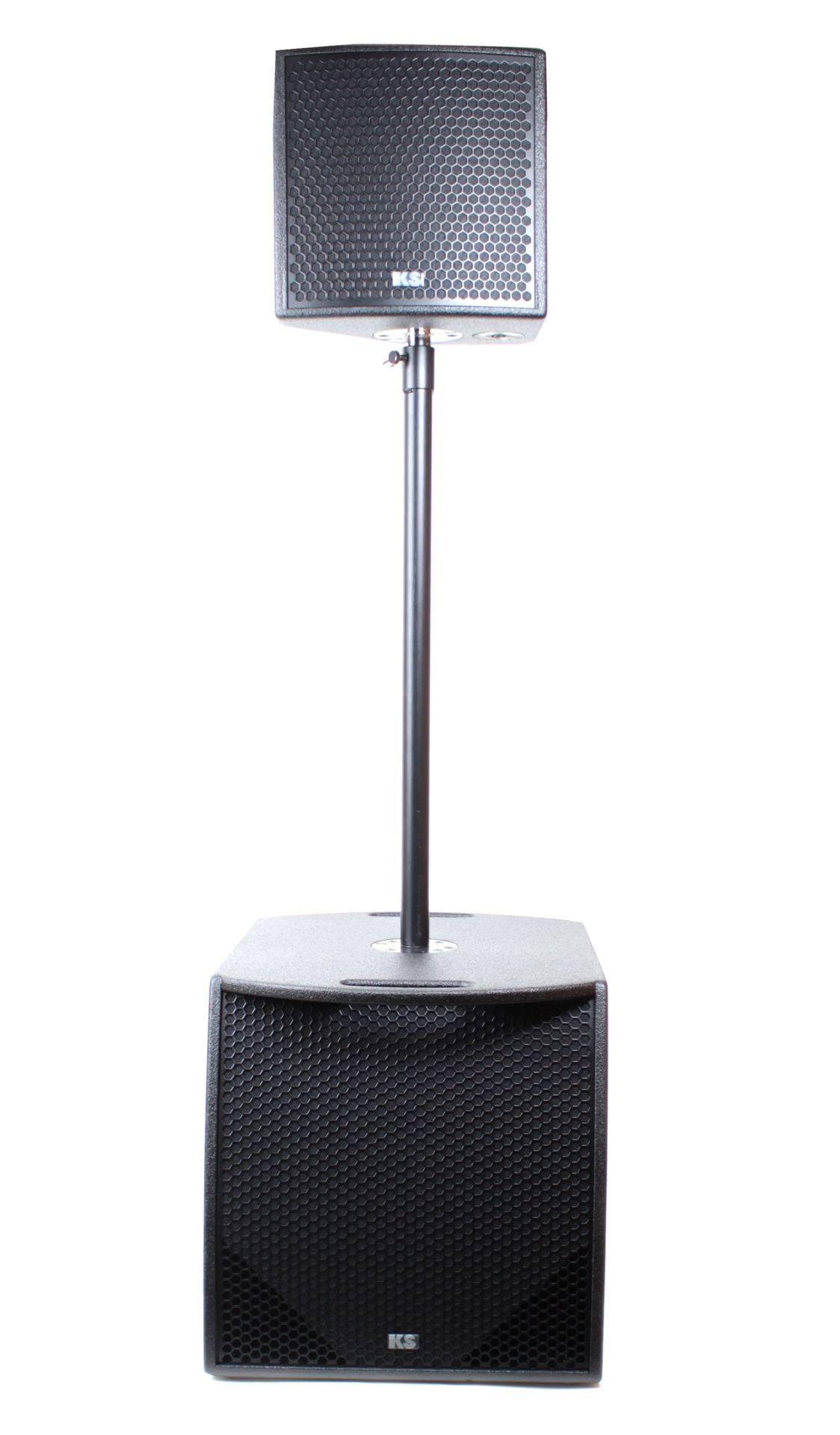 KS Audio MicroSat 2 Aktives Lautsprechersystem 3-Wege  NEU