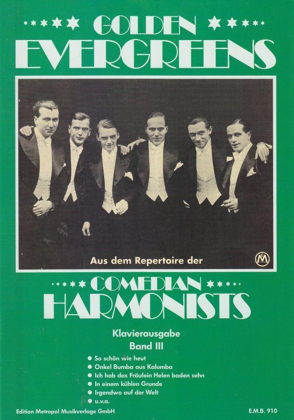 Noten Comedian Harmonists 3 Klavier & Gesang Metropol EMB 910
