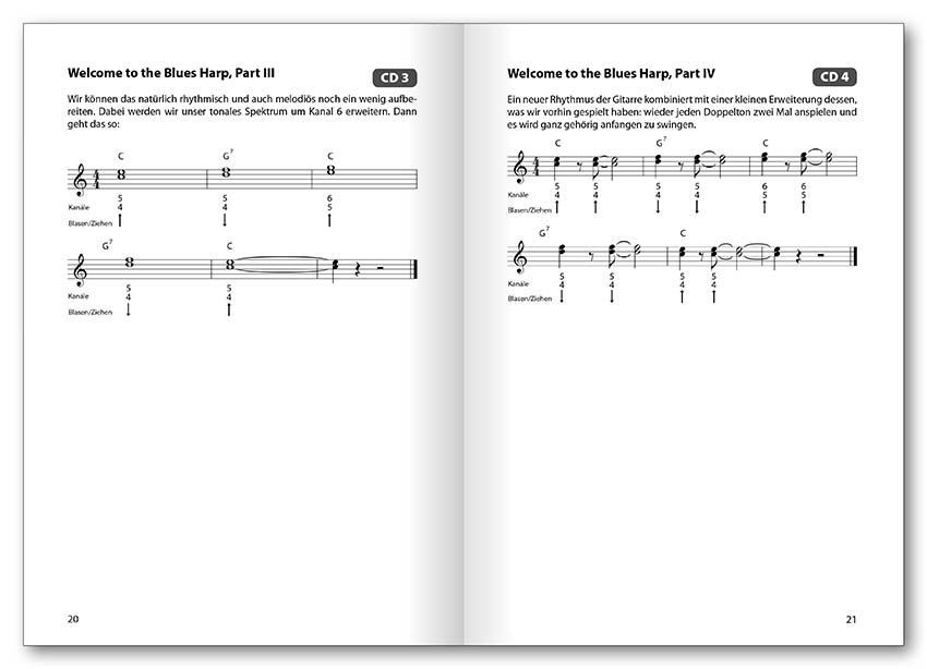 Noten Die Mundharmonika-Schule für Anfänger on the road incl. CD VOGG 0582-2