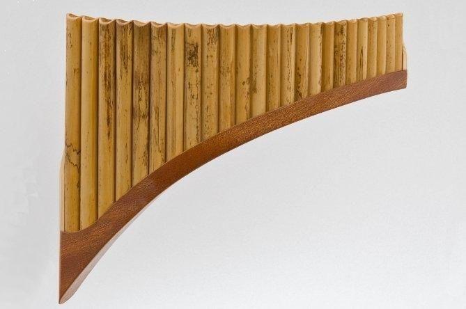 Plaschke S24 Panflöte G-Dur / 24 Rohre Holzschuh, Schilf, elektronisch gestimmt