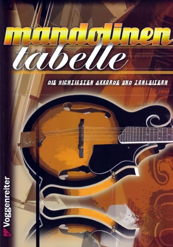 Noten Mandolinen Tabelle Voggenreiter 0851-9  für Folk, Country, Jazz, Rock, Pop