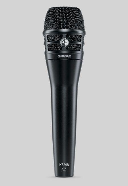 Shure KSM8 B schwarz Dualdyne Gesangsmikrofon mit 2 Membranen, dynamisch