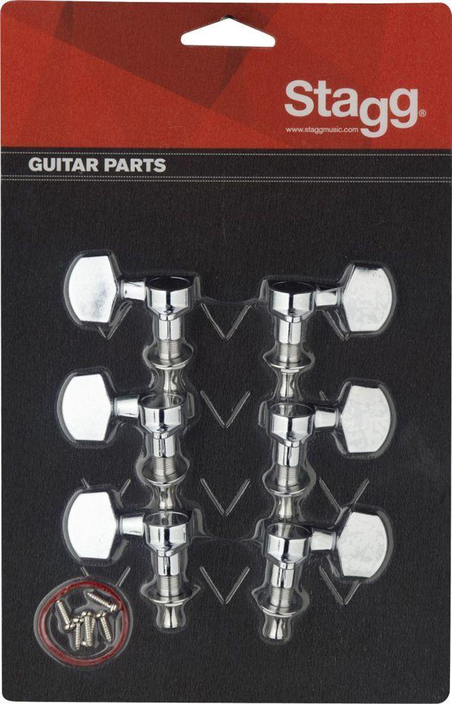 Stagg Mechanik für E-Gitarre 3L/ 3R, gekapselt, chrom