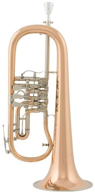Cerveny CVFH 702R Konzert-Flügelhorn- Bohrung 11,10mm, Etui u.Zubehör, CVFH-702R