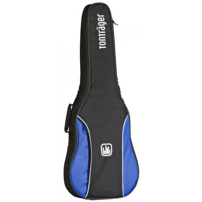 Tonträger TG10C/ BB Gigbag für Konzertgitarre 4/4,Tasche mit 10mm Polster Blau
