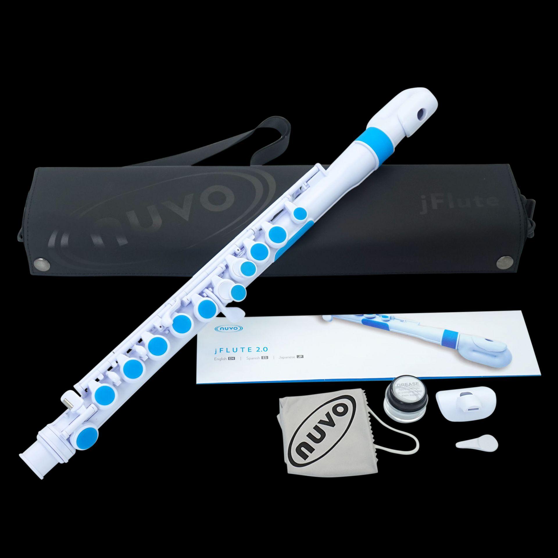Kinder-Querflöte NUVO jFlute 2.0 NU-JF220BL, für Kinder ab 4 Jahren geeignet,