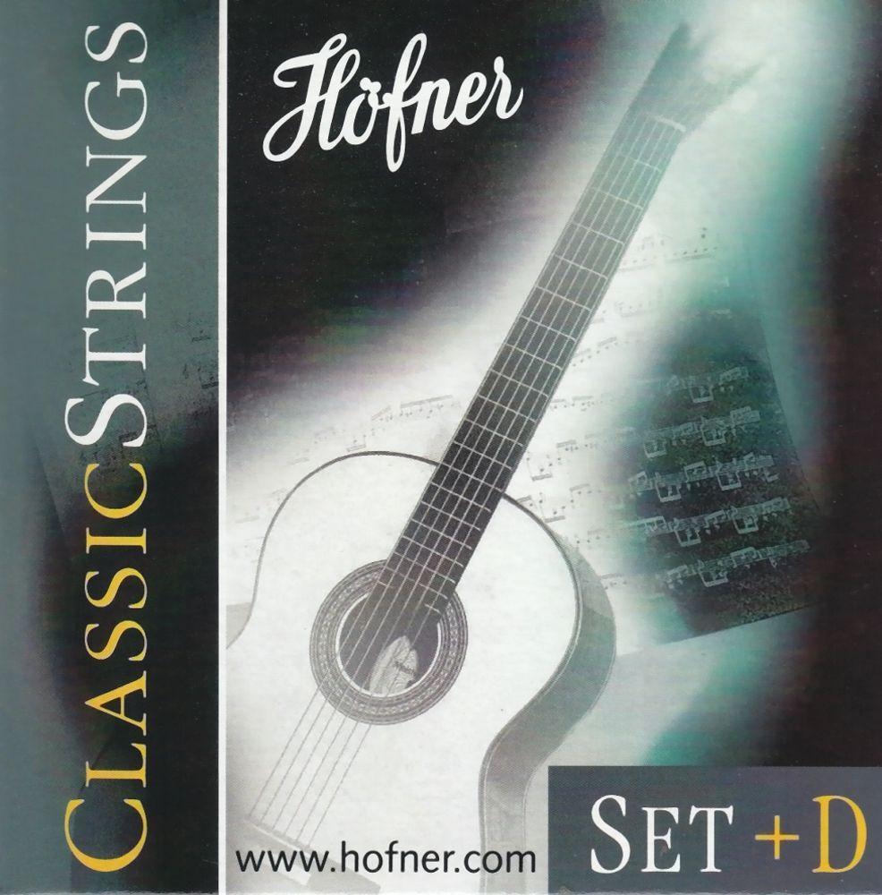 Höfner HCS+D Nylon Classicsaiten Satz Medium Tension