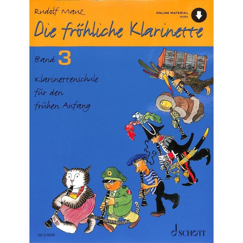 Noten Die fröhliche Klarinette 3 Schule Rudolf Mauz ED 21503D downloadcode