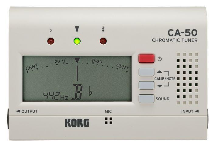 Korg CA-50 ChromaticTuner, Stimmgerät mit Ein-und Ausgang zum Durchschleifen, WH