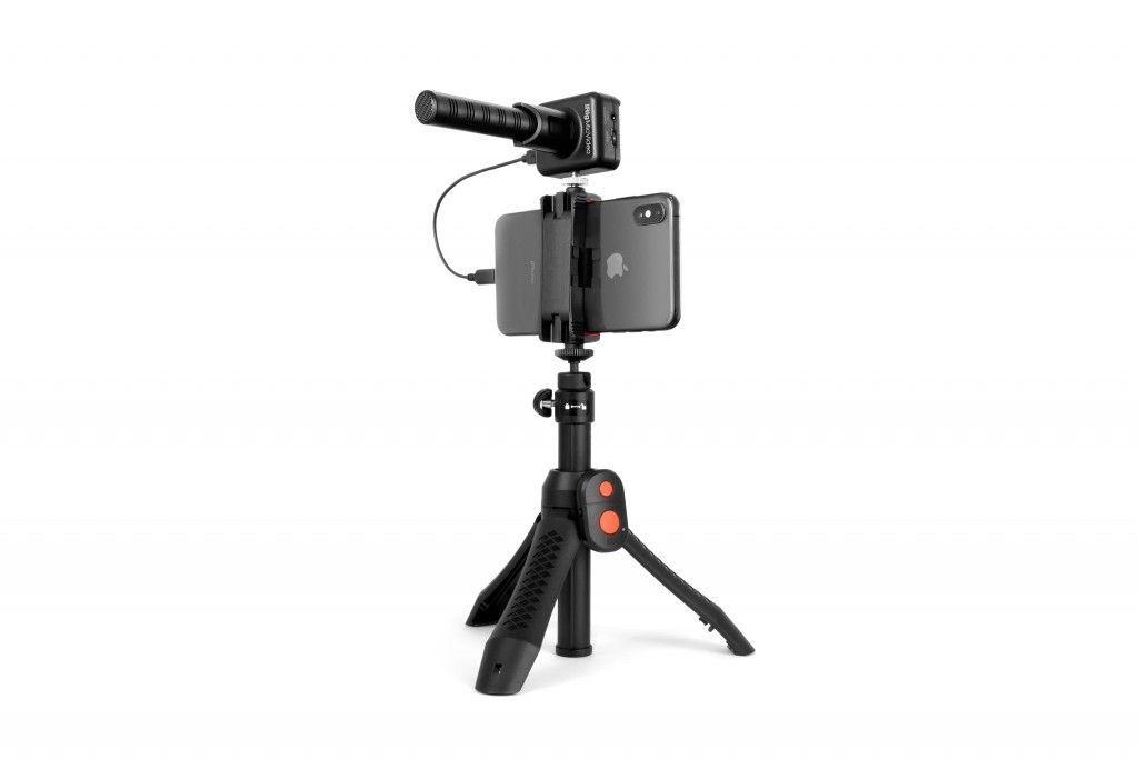 IK Multimedia iRig Mic Video Bundle Kameramikrofon + Halterung für Smartphone