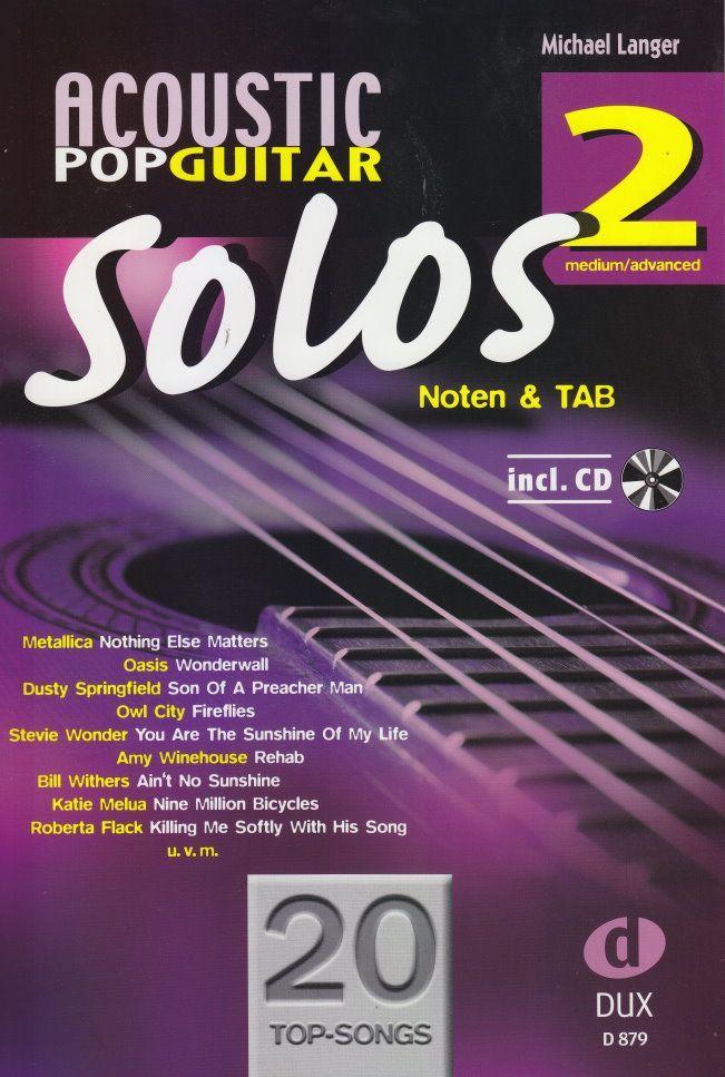 Noten Acoustic Pop Guitar Solos 2 DUX 879 incl. CD Langer Michael