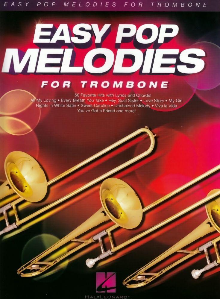Noten Easy Pop Melodies für Posaune for  trombone HL 125789 Hal Leonard leicht