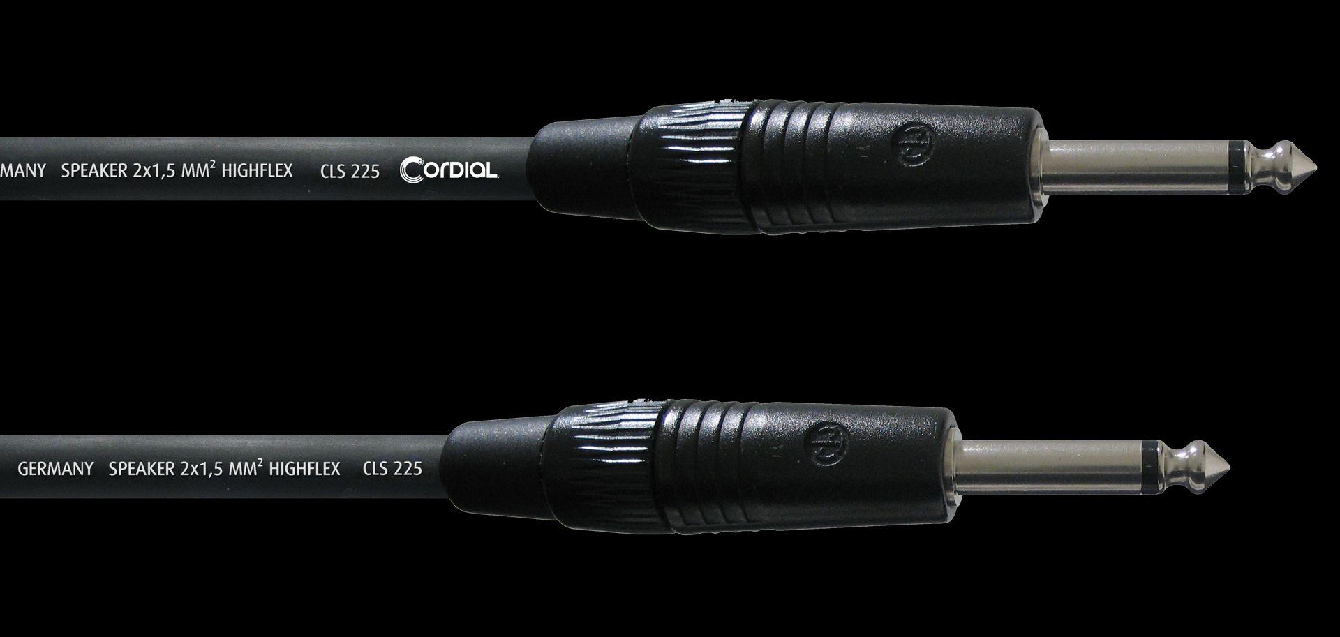 Cordial CPL 10 PP 25 Boxenkabel Klinke / Klinke, Neutrik, 2x2,5mm², 10 Meter