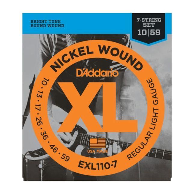 D'Addario EXL110-7 E Gitarren Saiten .010-.059