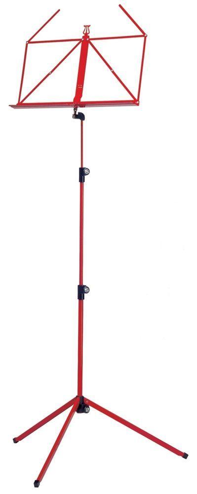 K&M 10010 Notenpult rot , Höhe 625 - 1240 mm, zusammengelegt 460mm  100/1