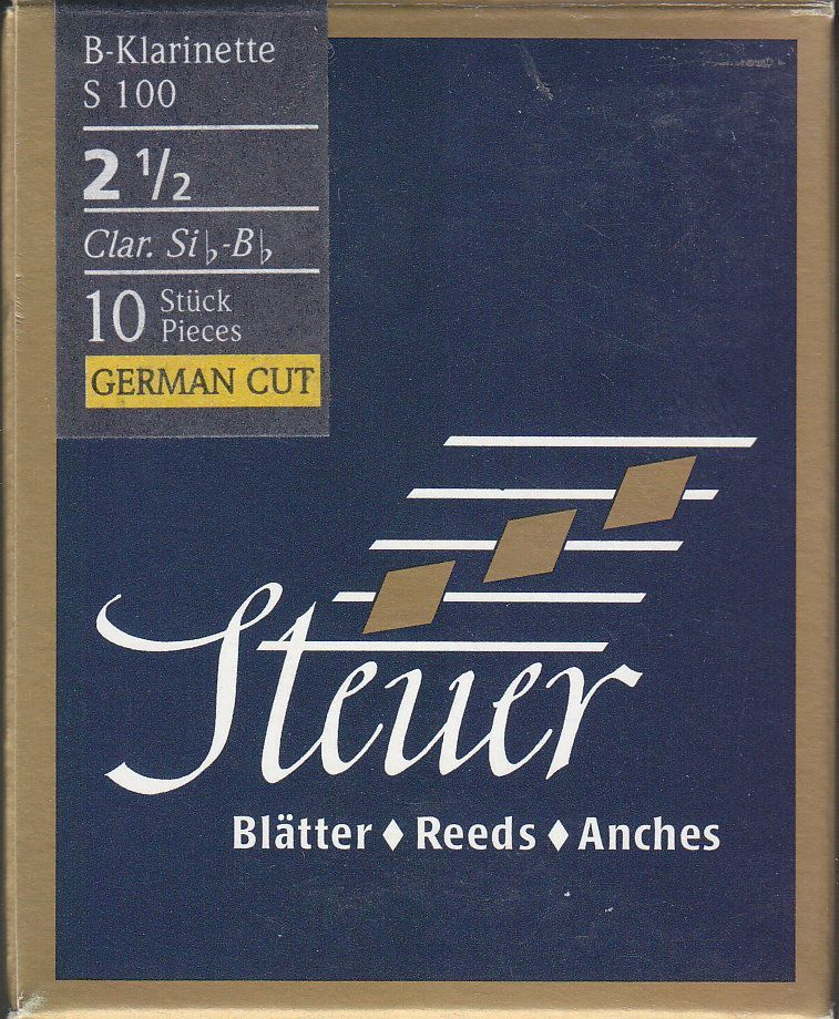 Steuer S-100 B-Klarinette deutsch 2,5 Blatt Blue Line