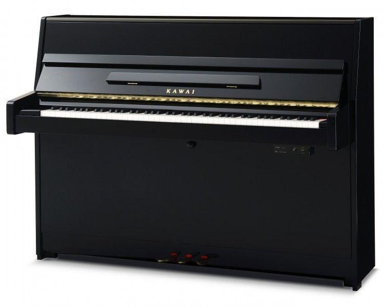 Kawai K-15-ATX2 E/P Klavier, 114 cm, Anytime-silent-Funktion, schwarz poliert