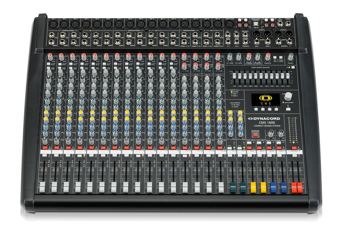 Dynacord CMS 1600-3 Mixer, Mischpult, 12 Mikrofoneingänge, 4 Stereokanäle, EQ