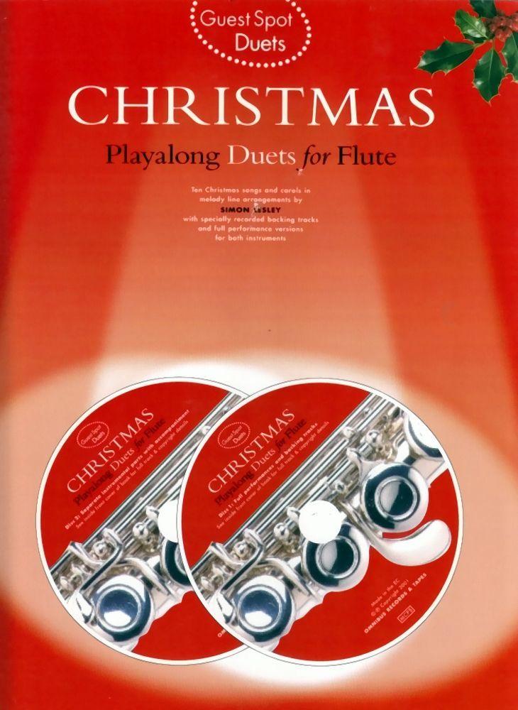 Noten Christmas Playalong Duets for Flute Querflöte AM 971916 Guets Spot 2 CD´s