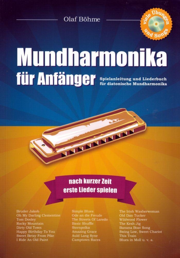 Noten Mundharmonika für Anfänger Olaf Böhme incl. CD 53 Songs