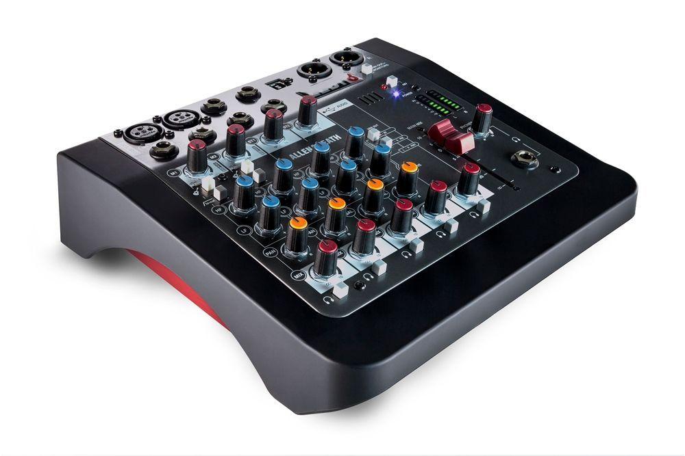 Allen&Heath ZEDi-8 Mixer mit 2x2 USB Interface (24bit / 96KHz), Effektgerät