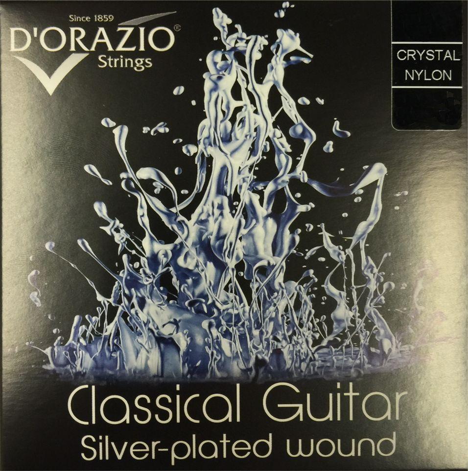 D'ORAZIO Crystal Nylon Hard Tension Saitensatz für Konzertgitarre aus Italien