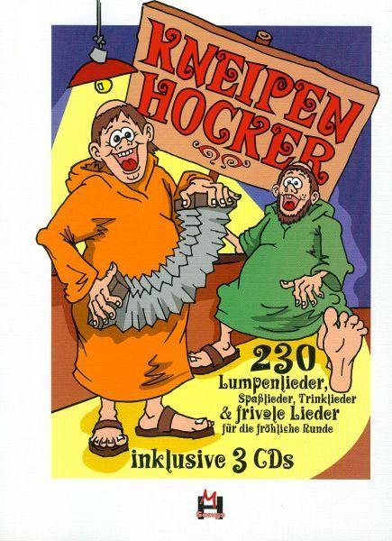 Noten Kneipenhocker 230 Lumpenlieder Hildner Verlag incl. 3 DCs
