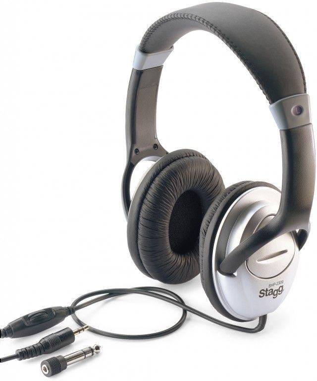 Stagg SHP-2300H Stereo-Kopfhörer, gepolsterter Kopfbügel, ca. 3m Kabel