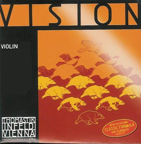 Thomastik VISION Violine 4/4-G-Saite VI04 mittel Synthesic Core Silber