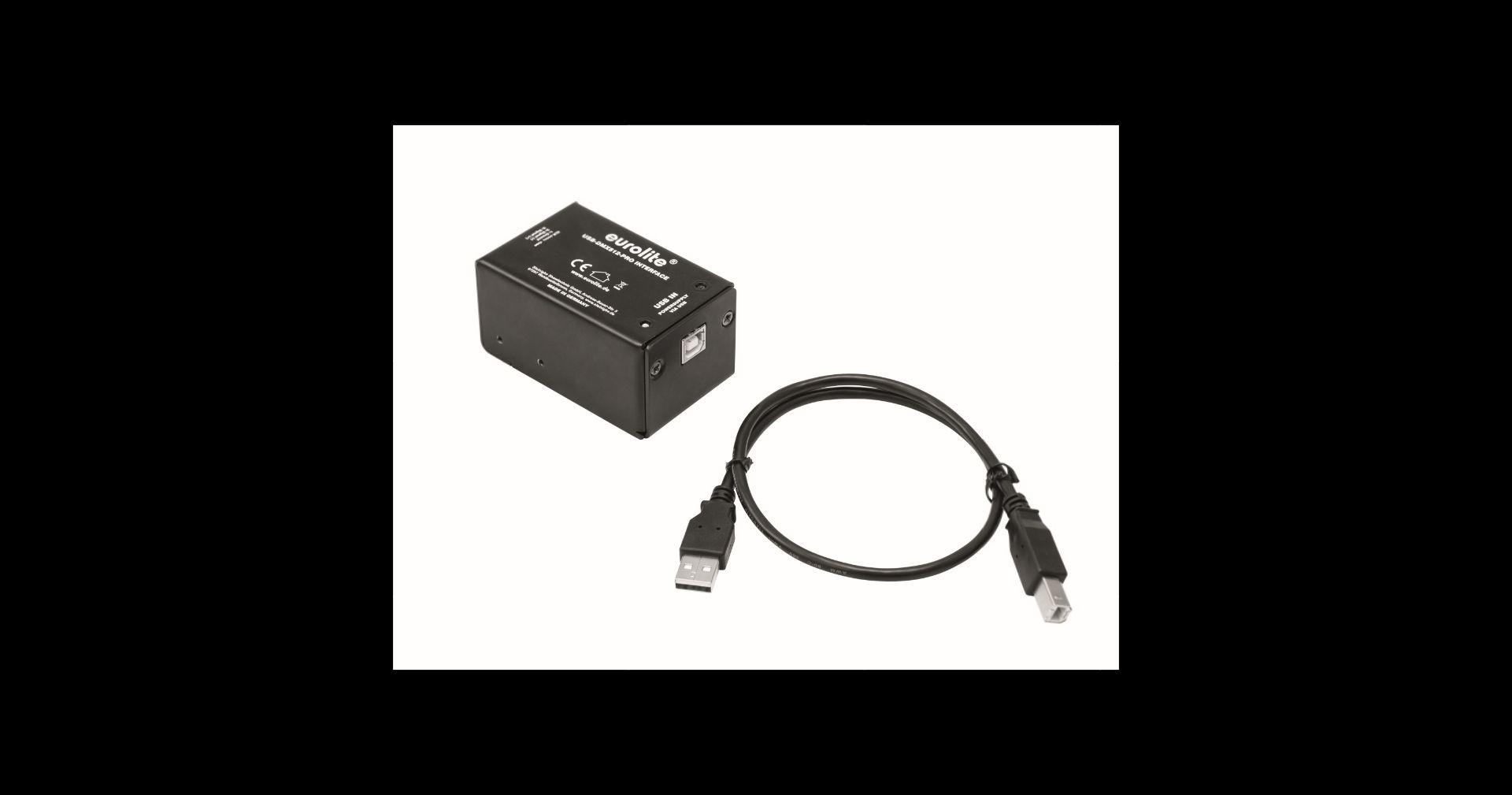 EUROLITE USB-DMX512 PRO Interface MK2 USB-DMX-Interface inkl. USB Kabel