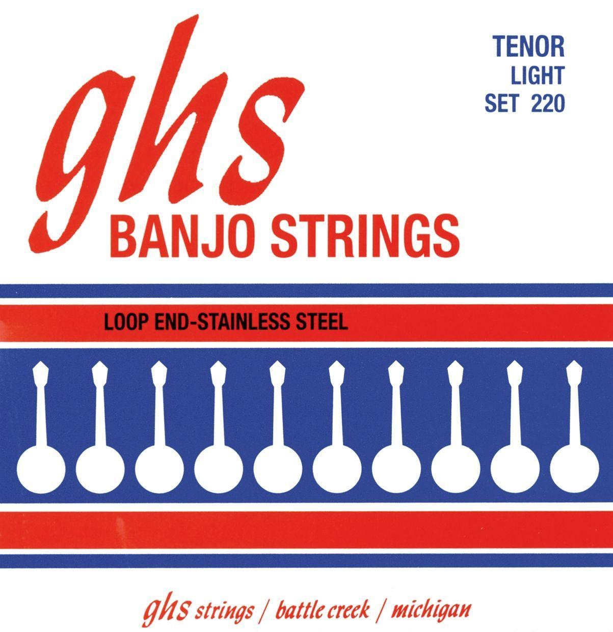 GHS Banjo-Saiten Set 220 für Tenor-Banjo 010,5-028