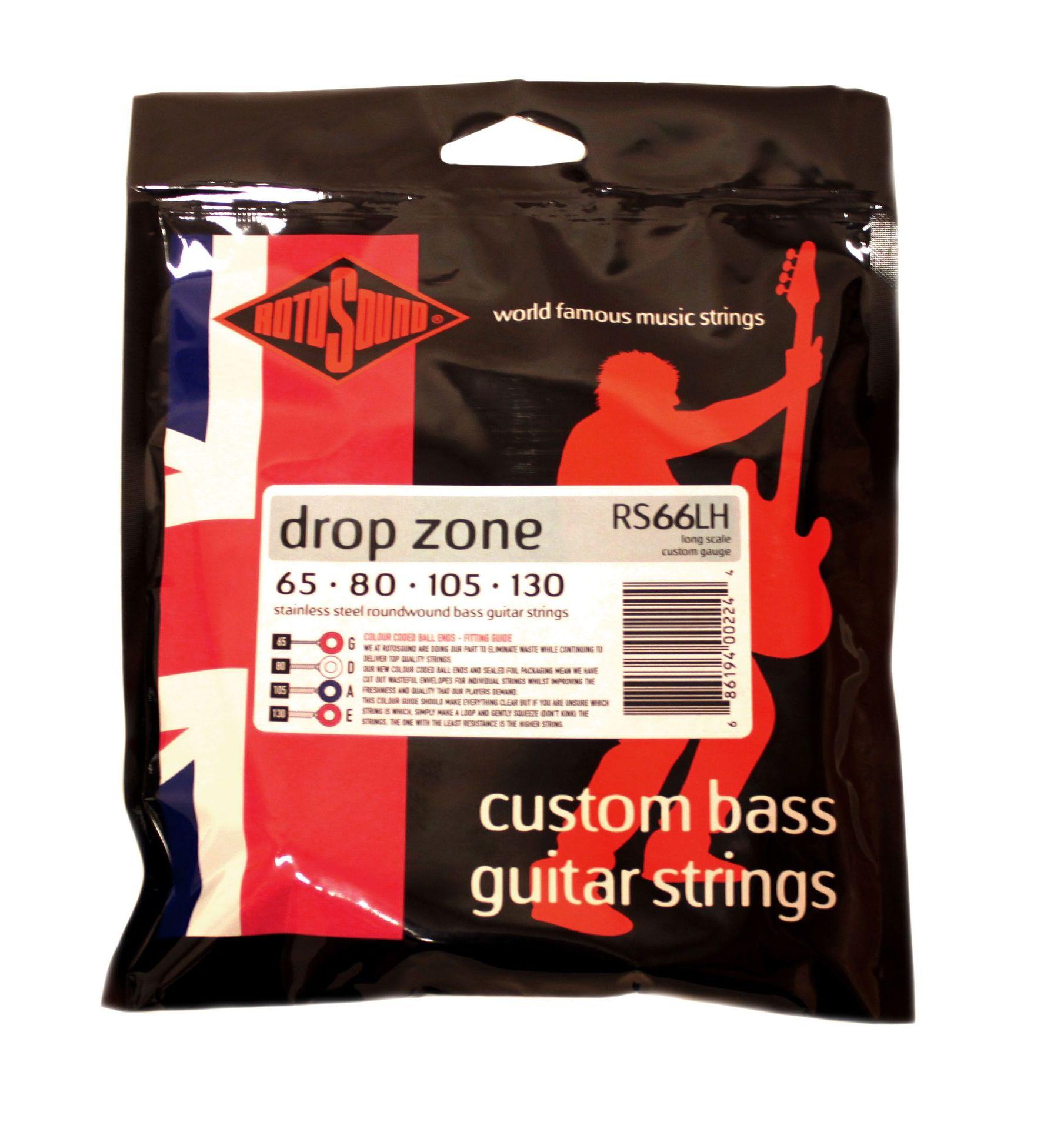 Rotosound RS 66 LH Drop Zone E-Bass Saiten 65-130  RORS66LH