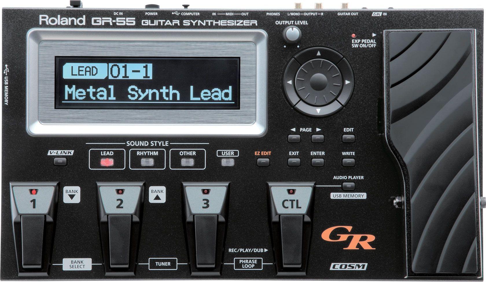 Roland GR-55GK Gitarren/Bass-Synthesizer, Multieffektgerät für E-Gitarre