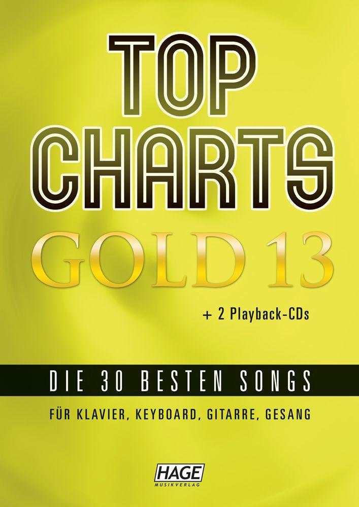 Noten TOP Charts Gold Band 13 - 2 Playback CDs Ed Hage 3975