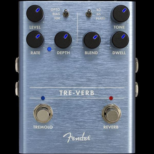 Fender Tre-Verb Digital Reverb/Tremolo Pedal  Effektgerät für E-Gitarre Stompbox