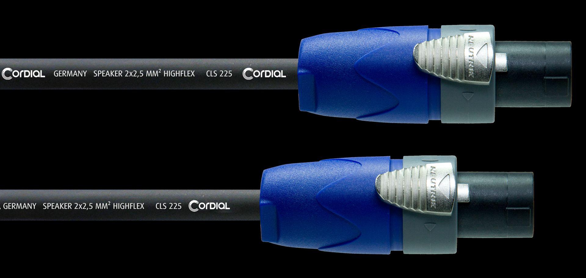 Cordial CPL 20 LL2 Boxenkabel Speakon/Speakon, Neutrik, 2x2,5mm², 20 Meter