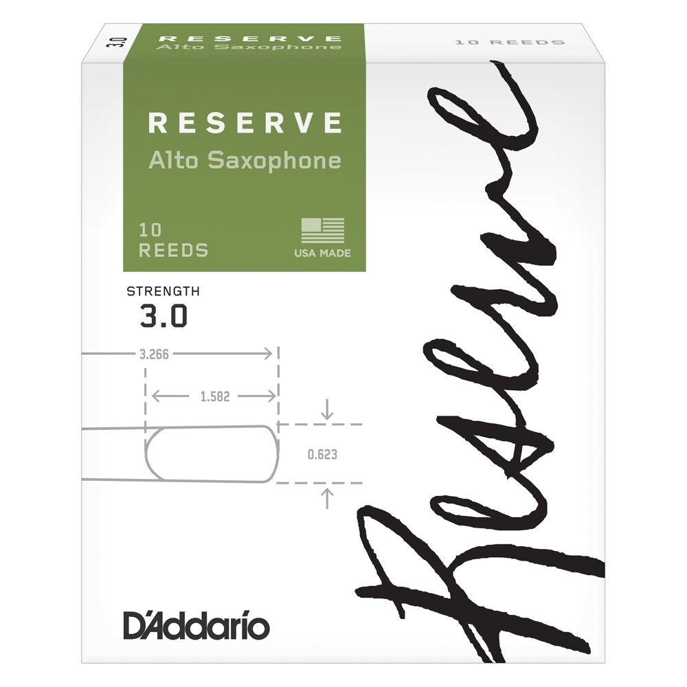 D´Addario RESERVE Altsaxophon 3,0 Blatt (DÀddario/Rico), klassische Orientierung