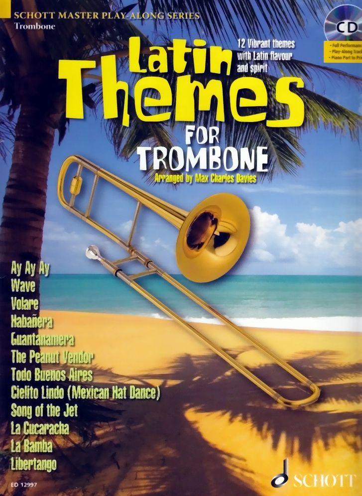Noten Latin Themes for Trombone incl. CD Lateinamerikanische Titel ED 12997